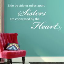 Sisters Side by Side WORD FAMILY ART ~ Wall sticker / decals
